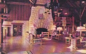 Illinois Grafton Pere Marquette Hotel & Lodge Great Hall and Fireplace