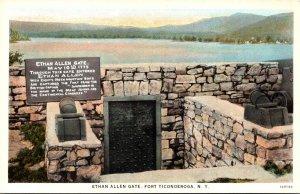 New York Fort Ticonderoga Ethan Allen Gate Curteich