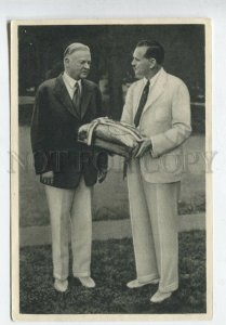 428086 SPORT Olympiade 1932 US president Herbert Hoovert Tobacco ADVERTISING