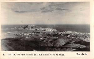 Ceuta Spain Birds Eye View Real Photo Antique Postcard J66000