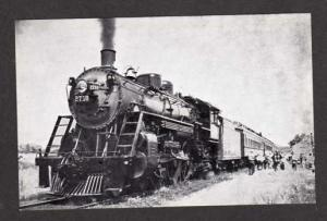WI Soo Line Railroad Train Loco No 2718  Ridgeland Wisconsin Postcard RR PC