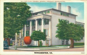 USA Elks Club Formerly general sheridan's Headquarters Winchester 04.25