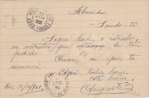 50 Reis Postal card , Brazil , PU-1901