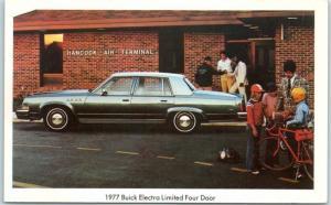 1977 BUICK ELECTRA Car Adv. Postcard Limited Four Door Sarasota Florida 1977