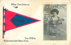 Jefferson Oregon You Will Be Welcomed With Open Arms Pennant Postcard