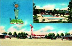 Urlaub Inn Multi Blick Pascagoula Mississippi Ms Unp Vtg Chrom Postkarte