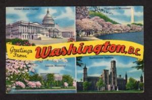 DC Greetings from WASHINGTON DC Postcard PC Multi Views