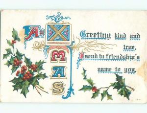 Divided-Back CHRISTMAS SCENE Great Postcard W9394