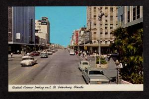 FL First National Bank Central Ave. McCrory Store St PETERSBURG Florida Postcard