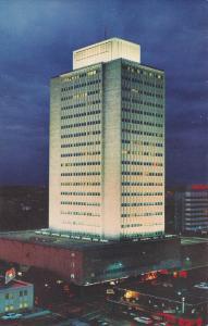 National Bank Of Commerce, Night View, SAN ANTONIO, Texas, 40-60´s