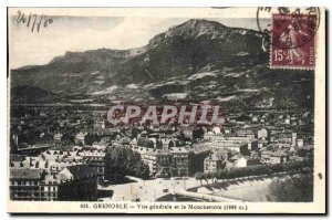 Old Postcard General view Grenoble and Moucherotte