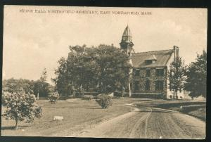 East Northfield MA Stone Hall Northfield Seminary ca 1910 Vintage Postcard