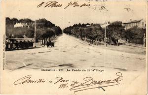 CPA MARSEILLE Le Prado vu de la Plage (404732)
