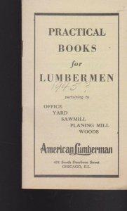 Practical Books for Lumbermen 1945 Booklet American Lumberman