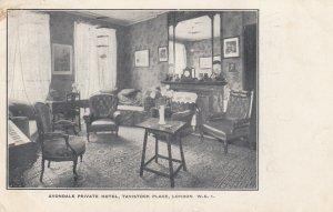 LONDON , England , 1927 ; Avondale Private Hotel , Tavistock Place; Interior