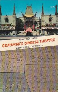 California Hollywood Greetings From Graumans Chinese Theatre