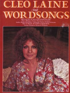 Cleo Laine Wordsongs of LP Music Of Shakespeare Large Sheet Music Album Book