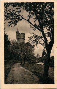 Vtg Carte Postale WWII Freinberg Linz Observation Tour & Faux Story D