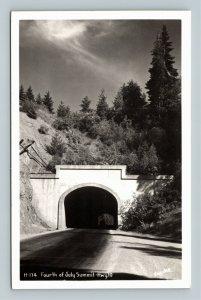 Fourth Of July Summit, Bridge, Hwy 10, Landscape, RPPC Idaho Postcard