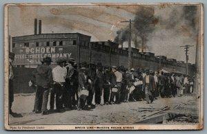 Postcard McKees Rock PA c1909 Pressed Steel Car Co. Labor Strike Bread Line