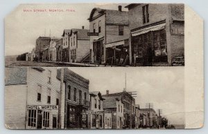 Morton Minnesota~Main Street~Arcade Restaurant~Millinery~Marble Works~Hotel~1910
