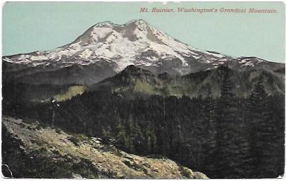 Mt Rainier.  Washington's Grandest Mountain.