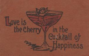 Love is Cherry in Cocktail of Happiness - Humor - DB