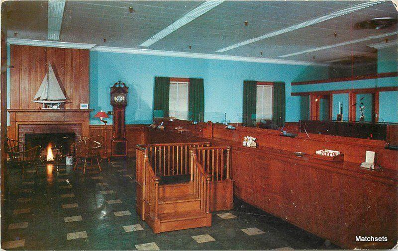 1950's Interior Old Orchard Beach Branch Hipple postcard 3755
