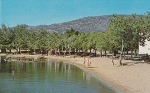 One of the many beaches, OSOYOOS ON THE LAKE, British Columbia, Canada, 40-60s