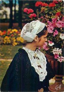 Ethnic native Postcard French Anjou Touraine