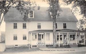 Old Vintage Shaker Post Card The  Store Poland Spring, Maine, ME, USA Writing...