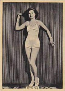 B A T Vintage Cigarette Card Grace & Beauty No 33 June Rae  1938