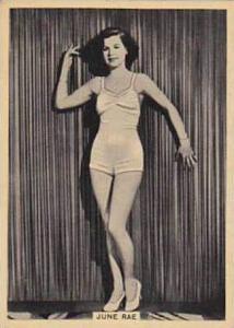 B A T Vintage Cigarette Card Grace & Beauty No 33 June Rae  1938