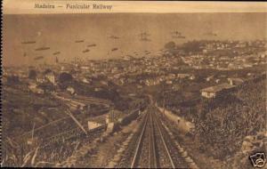 portugal, MADEIRA, Panorama, Funicular Railway (1910s)