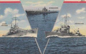 V for Victory ; 1930-40s ; Submarine, Light Cruiser & Destroyer