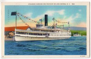 Steamer Horicon & Mohican, Lake George NY