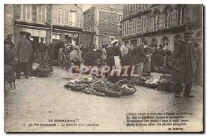 Old Postcard Folklore Life Normandy Normandy The market for vegetables TOP