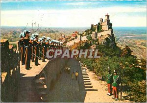 Postcard Modern Repubblica di S Marino Panorama Army