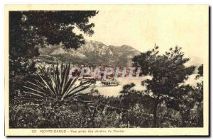 Old Postcard Monte Carlo View taken of the Rock Gardens