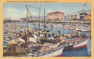 California San Francisco Fishermans Fleet Fishermans Wharf