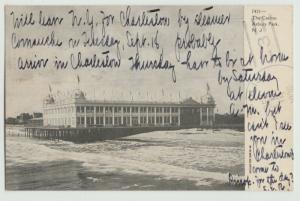 Asbury Park NJ Casino c1906 Postcard