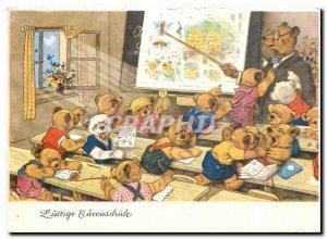Postcard Modern Lustige Barenschule