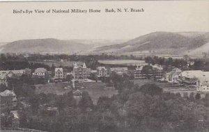 New York Bath Birds Eye View Of National Military Home Albertype