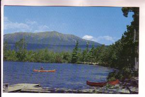 Mount Katahdin, Canoe in Togue Pond, Baxter Park, Maine, Photo Paul A Knaut Jr