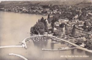 Switzerland La Tour de Peilz vue d'avion 1955 Photo