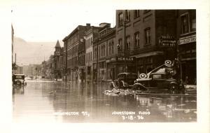 PA - Johnstown. March 18, 1936 Flood. Washington Street   *RPPC