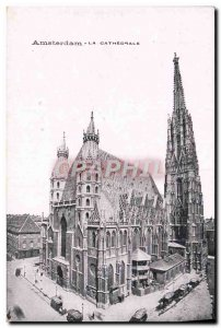 Old Postcard Amsterdam La Cathedrale