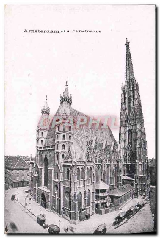 Old Postcard Amsterdam La Cathedrale