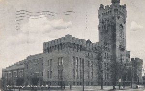 Rochester NY New York - State Armory Building on East Main Street - pm 1912 - DB