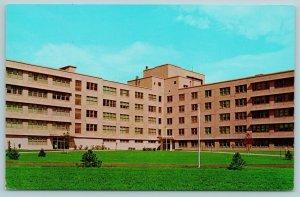 Shiloh Illinois~Six-Story Hospital on Scott Air Force Base (AFB) 1960 Postcard